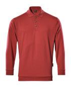 00785-280-02 Polo-Sweatshirt - Rot