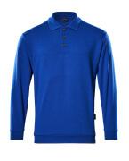 00785-280-11 Polo-Sweatshirt - Kornblau
