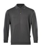 00785-280-18 Polo-Sweatshirt - Dunkelanthrazit