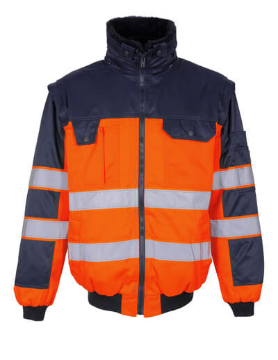 00920-660-141 Pilotjacke - hi-vis Orange/Marine