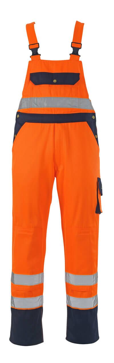 00969-860-141 Arbeitslatzhose - hi-vis Orange/Marine