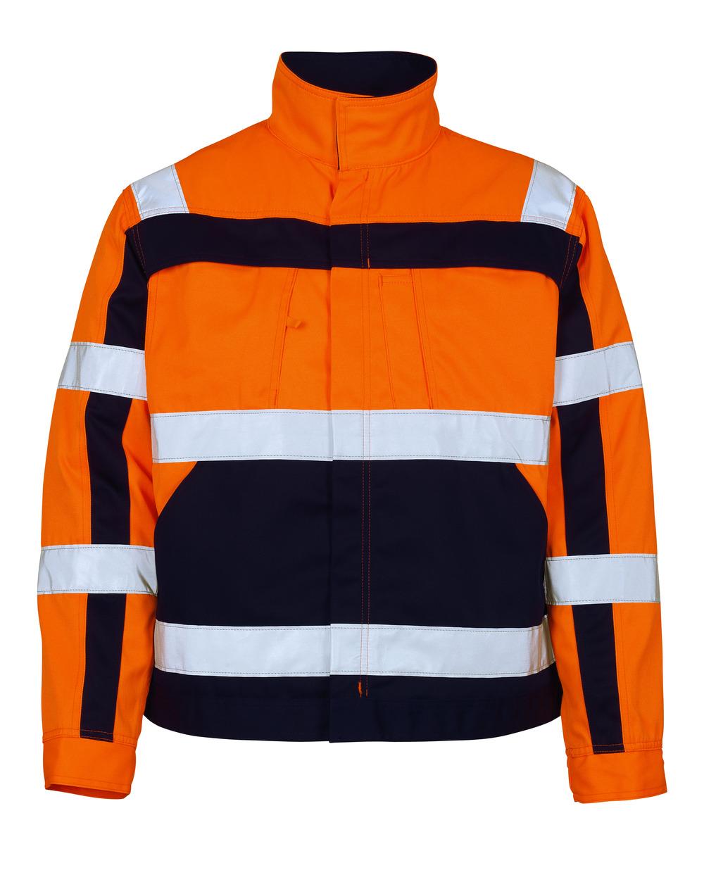 07109-860-141 Jacke - hi-vis Orange/Marine
