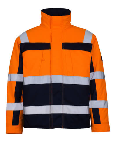 07123-126-141 Pilotjacke - hi-vis Orange/Marine