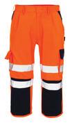 07149-860-141 Dreiviertel-Hose mit Knietaschen - hi-vis Orange/Marine