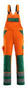 07169-860-1403 Arbeitslatzhose - hi-vis Orange/Grün