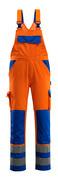 07169-860-1411 Arbeitslatzhose - hi-vis Orange/Kornblau