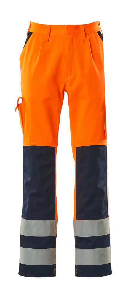 07179-860-141 Arbeitshose - hi-vis Orange/Marine