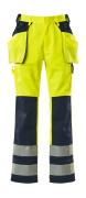 09131-470-171 Handwerkerhose - hi-vis Gelb/Marine