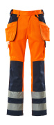 09131-860-141 Handwerkerhose - hi-vis Orange/Marine