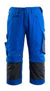 14149-442-11010 Dreiviertel-Hose mit Knietaschen - Kornblau/Schwarzblau