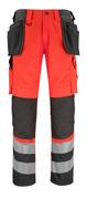 14931-860-A49 Handwerkerhose - hi-vis Rot/Dunkelanthrazit