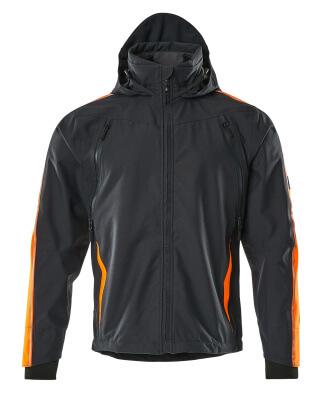 15001-222-01014 Hard Shell Jacke - Schwarzblau/hi-vis Orange