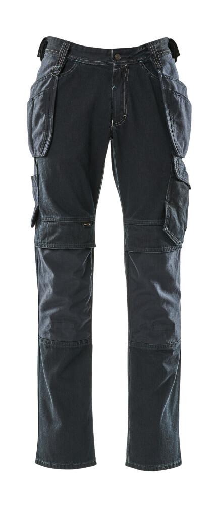 15131-207-86 Jeans mit Hängetaschen - Dunkelblauer Denim
