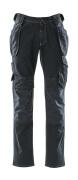 15131-207-86 Jeans mit Knie- und Hängetaschen - Dunkelblauer Denim
