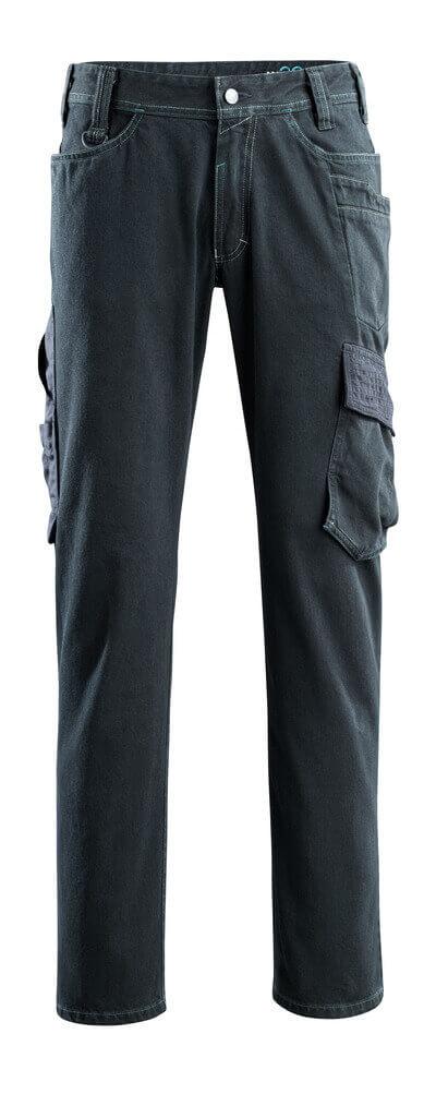 15279-207-86 Jeans mit Schenkeltaschen - Dunkelblauer Denim