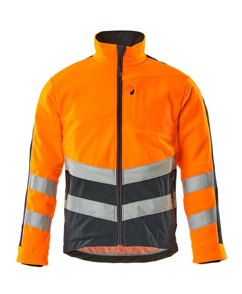 15503-259-14010 Fleecejacke - hi-vis Orange/Schwarzblau