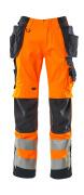 15531-860-14010 Hose mit Hängetaschen - hi-vis Orange/Schwarzblau