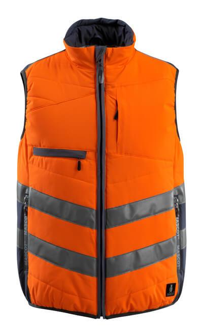 15565-249-14010 Winterweste - hi-vis Orange/Schwarzblau