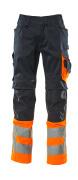 15679-860-01014 Arbeitshose - Schwarzblau/hi-vis Orange