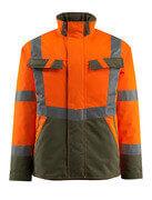 15935-126-1433 Winterjacke - hi-vis Orange/Moosgrün