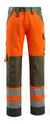 15979-948-1433 Arbeitshose - hi-vis Orange/Moosgrün