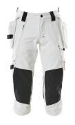 17049-311-06 Dreiviertel-Hose mit Knie- und Hängetaschen - Weiß
