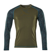 17281-944-33 Langarm T-Shirt - Moosgrün