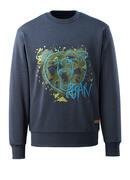 17284-280-66 Sweatshirt - Gewaschener dunkler Denim