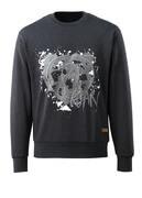 17284-280-73 Sweatshirt - Schwarzer Denim