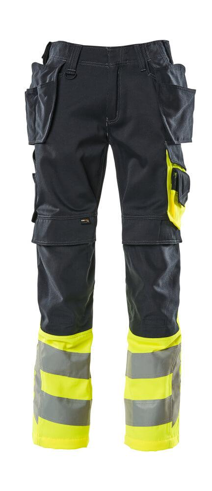 17531-860-01017 Handwerkerhose - Schwarzblau/hi-vis Gelb