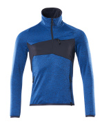 18003-316-91010 Fleecepullover - Azurblau/Schwarzblau