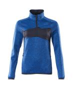 18053-316-91010 Fleecepullover mit kurzer Reißverschluss - Azurblau/Schwarzblau