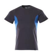 18082-250-01091 T-Shirt - Schwarzblau/Azurblau