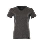 18092-801-1809 T-Shirt - Dunkelanthrazit  meliert/Schwarz