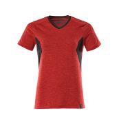 18092-801-20209 T-Shirt - Verkehrsrot meliert/Schwarz