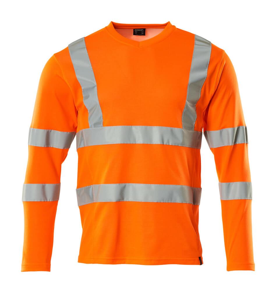 18281-995-14 Langarm T-Shirt - hi-vis Orange