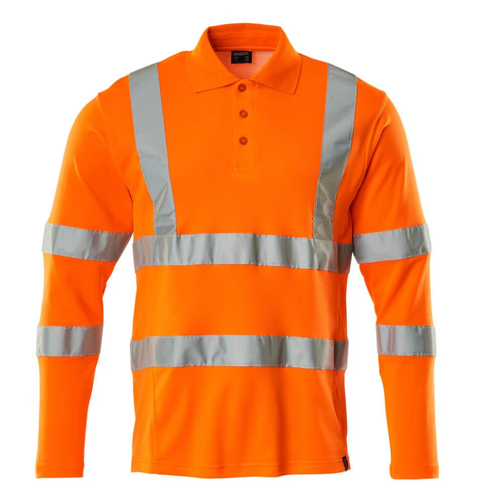 18283-995-14 Polo-Shirt, Langarm - hi-vis Orange