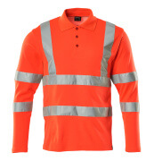 18283-995-14 Polo-Shirt, Langarm - hi-vis Orange