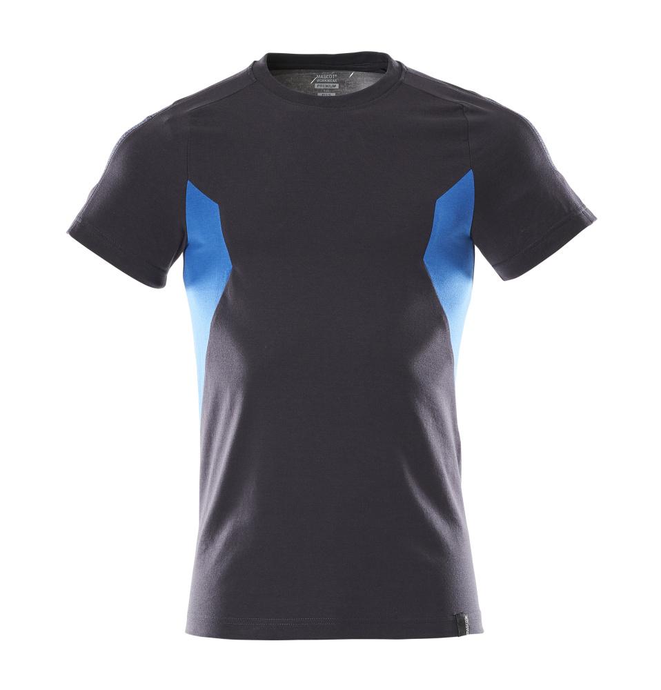 18382-959-01091 T-Shirt - Schwarzblau/Azurblau