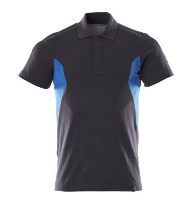 18383-961-01091 Polo-Shirt - Schwarzblau/Azurblau