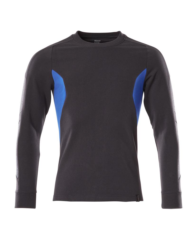 18384-962-01091 Sweatshirt - Schwarzblau/Azurblau