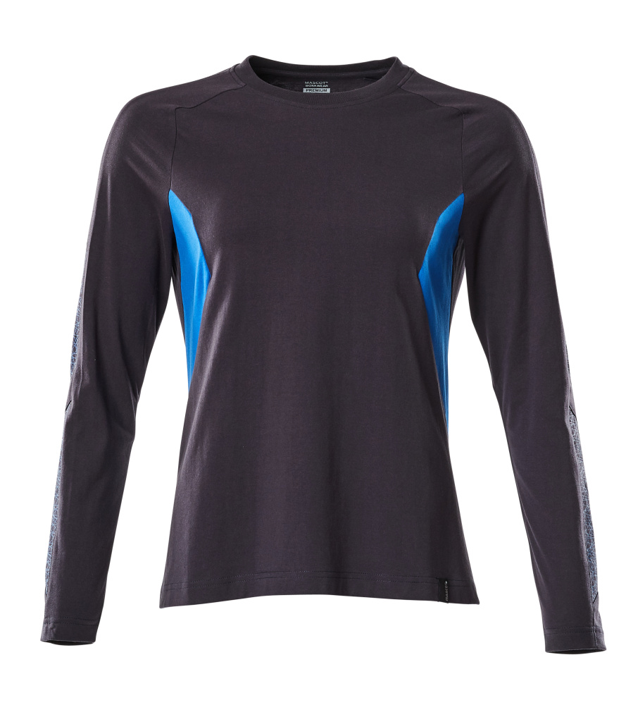 18391-959-01091 Langarm T-Shirt - Schwarzblau/Azurblau