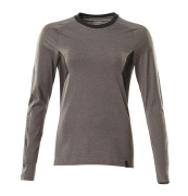 18391-959-1809 Langarm T-Shirt - Dunkelanthrazit/Schwarz