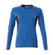 18391-959-91010 Langarm T-Shirt - Azurblau/Schwarzblau
