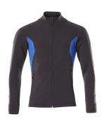 18484-962-01091 Sweatshirt - Schwarzblau/Azurblau