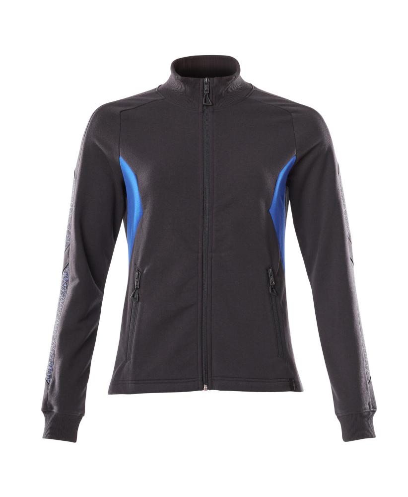 18494-962-01091 Sweatshirt - Schwarzblau/Azurblau