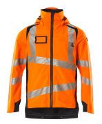 19001-449-14010 Hard Shell Jacke - hi-vis Orange/Schwarzblau