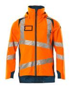 19001-449-1444 Hard Shell Jacke - hi-vis Orange/Dunkelpetroleum