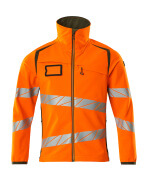 19002-143-1433 Soft Shell Jacke - hi-vis Orange/Moosgrün