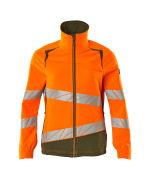 19008-511-1433 Jacke - hi-vis Orange/Moosgrün